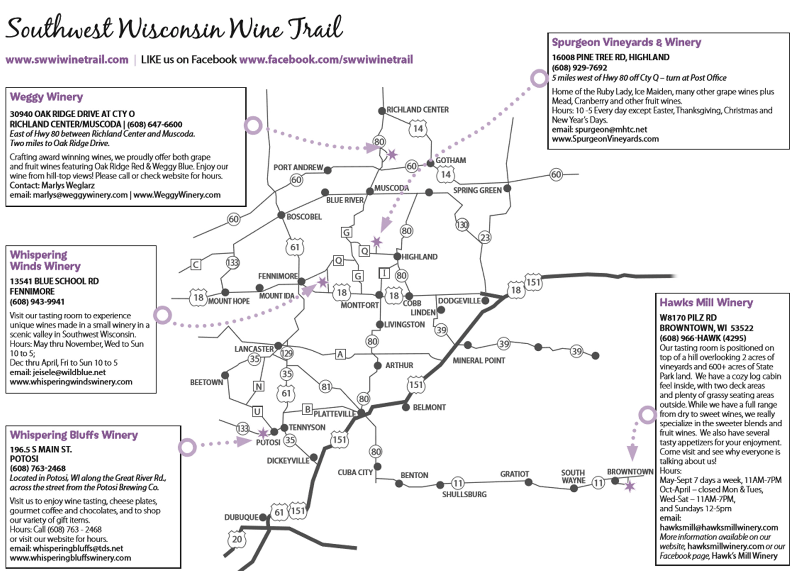 Wisconsin Wineries Wine Tasting Southwest Wisconsin Wine Trail